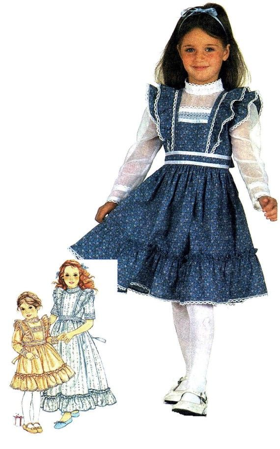 Girls Dress Gunne Sax Simplicity 5862 Vintage Sewing Pattern ...