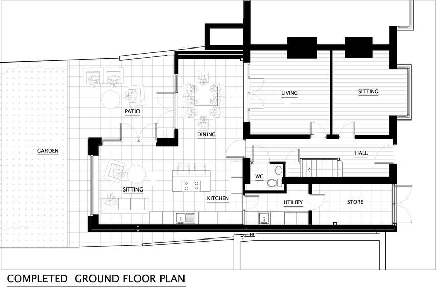 L Shaped Extension Plan House Extensions L Shaped House Plans