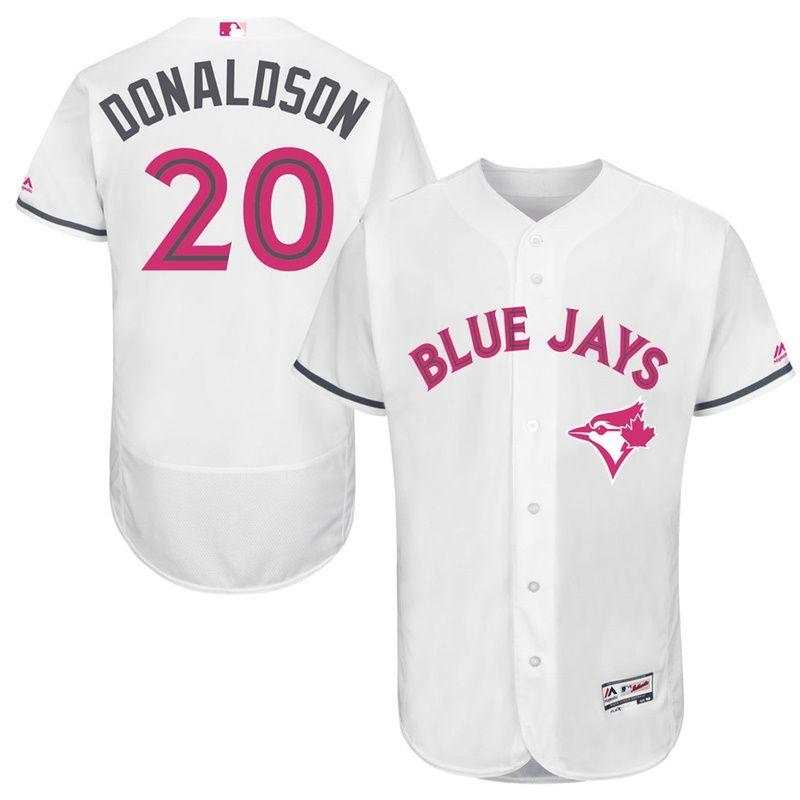 01d572b35 Josh Donaldson  20 Men Toronto Blue Jays 2017 Mother s Day White Flex Base  Jersey