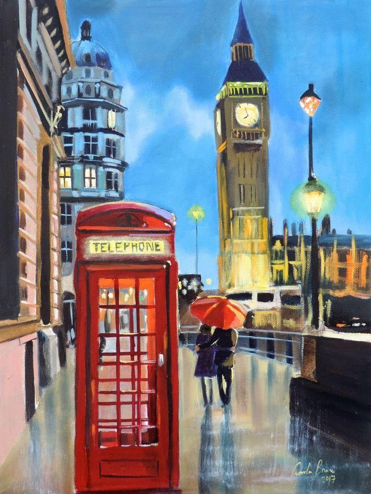 London /'Big Ben rainy London/' Oil Painting