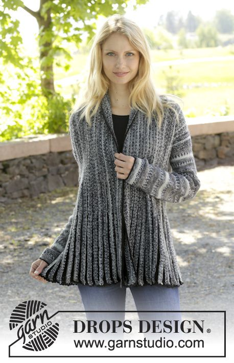 157 13 Knitted Jacket With Short Rows And Shawl Collar In Fabel