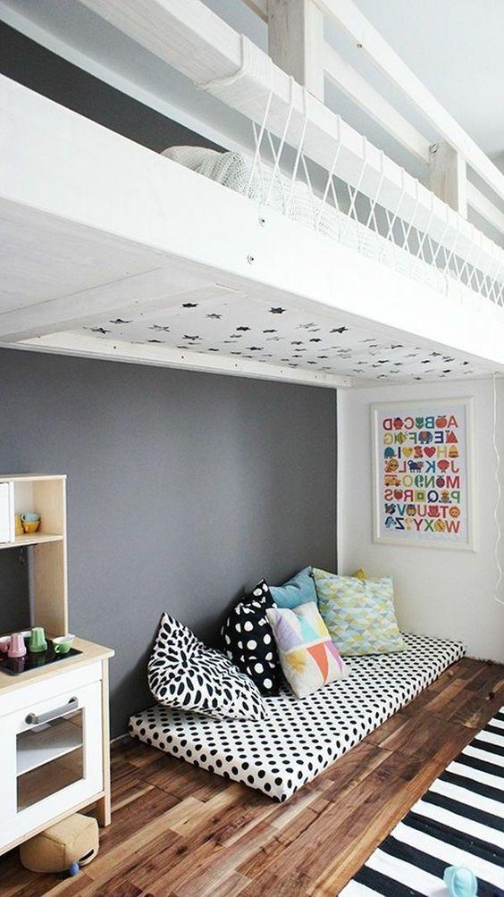 ideen f r m dchen kinderzimmer zur einrichtung und dekoration betten mit harmonyminds. Black Bedroom Furniture Sets. Home Design Ideas