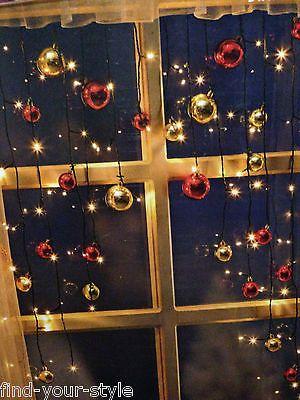 Led Lichterkette Christmas Lichtervorhang Kugeln Fenster