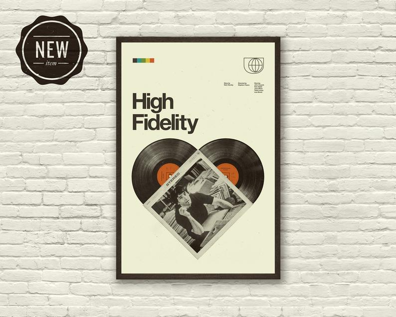 High Fidelity Movie Poster John Cusack Art Print 12 X 18 Etsy In 2020 Poster Vintage Retro Art Prints Movie Posters Minimalist