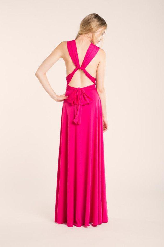 Rosa langes Kleid, Fuchsia Partei Infinity-Kleid | Infinity ...