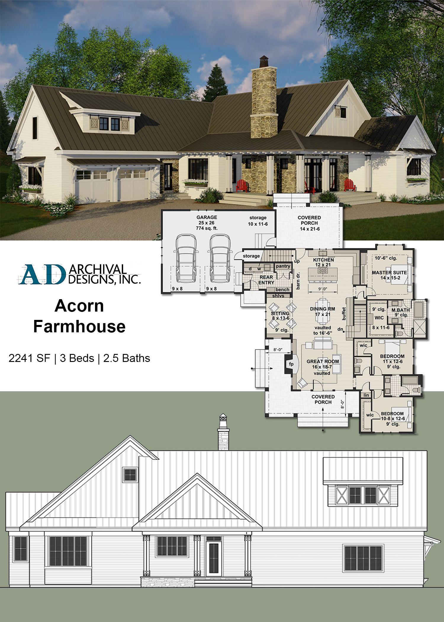 Acorn Farm House Plan