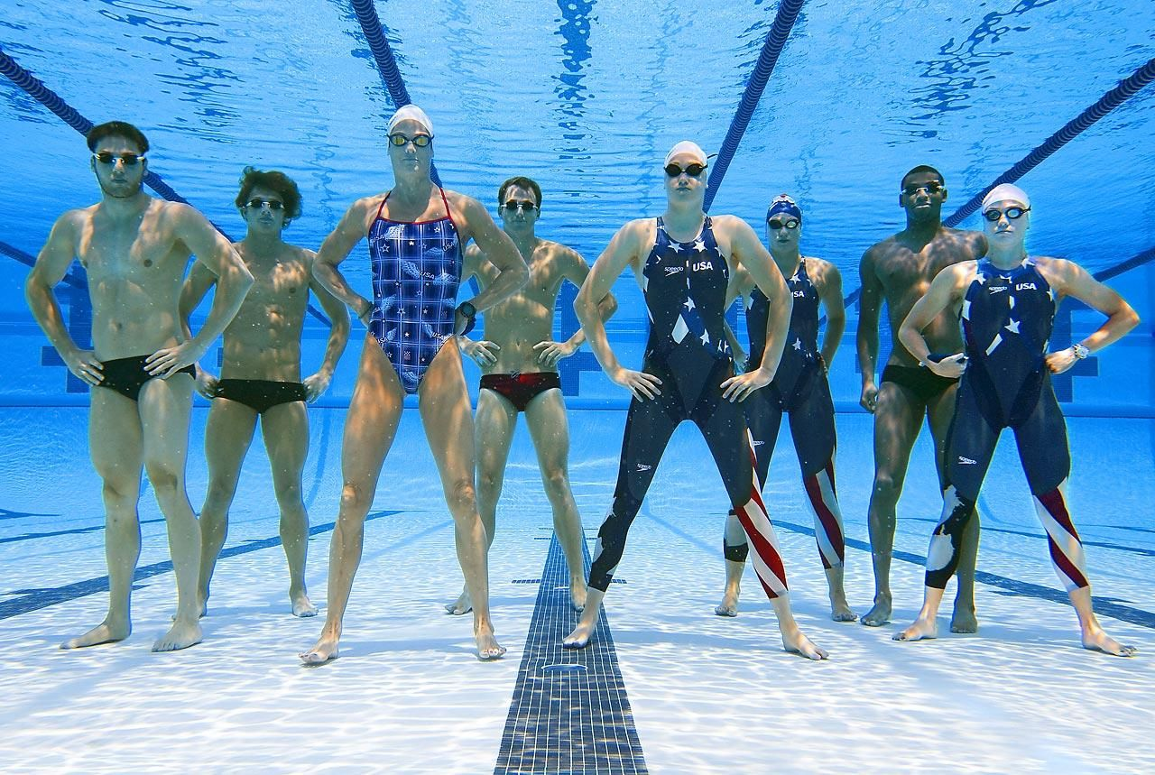 members of the 2008 u olympic swimming team looking like the all aquaman version of the justice league of america