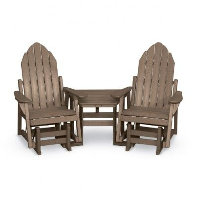 making your own adirondack chairs | Deluxe Adirondack Glider Chair Tete-A-Tete - Room for Two ...