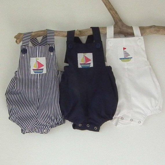 ef6ea9091 Baby Boy Rompers Baby Boy Clothing Navy Red Stripe Romper