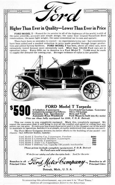 Model T Ad Ford Models Ford Classic Cars Henry Ford