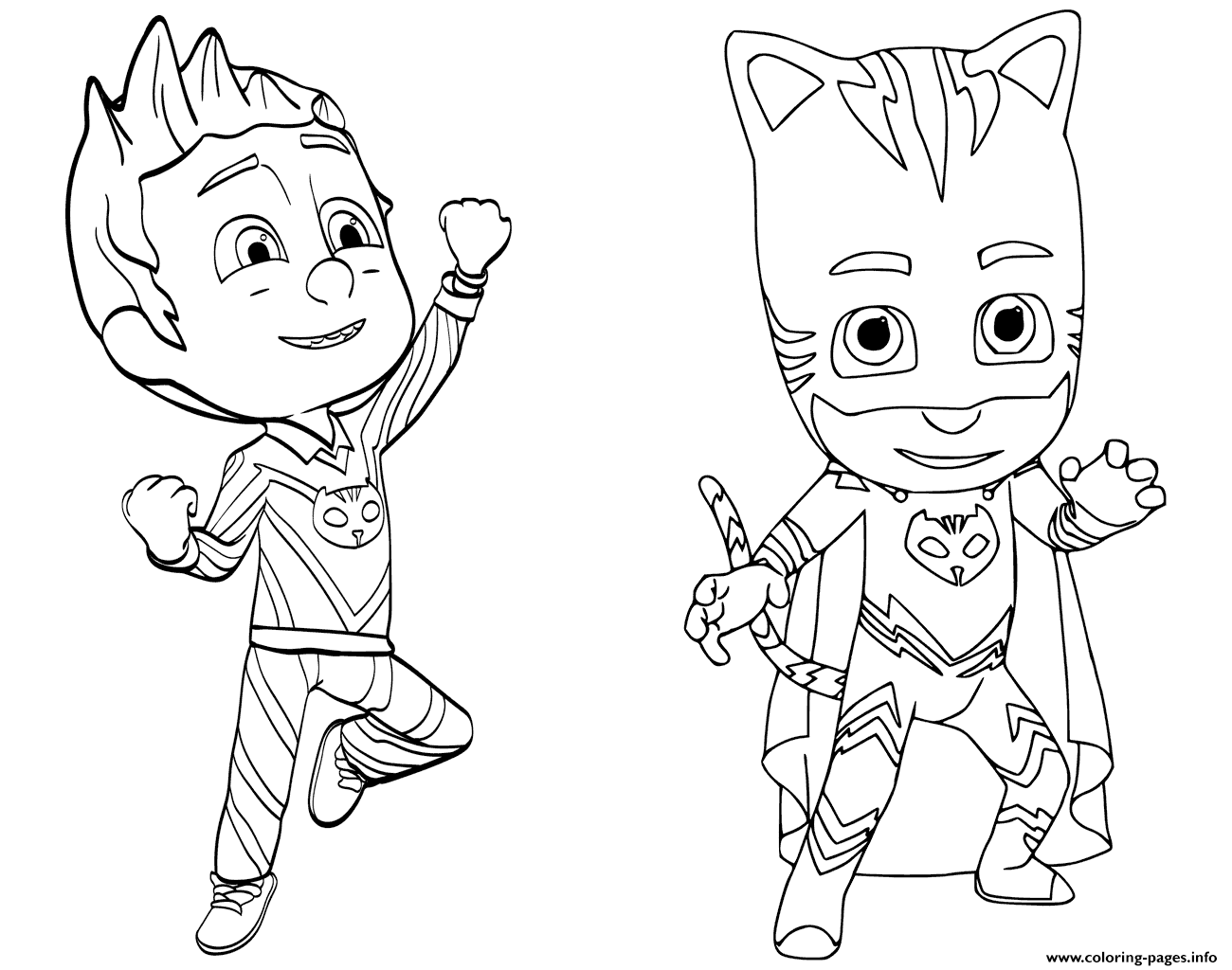 pinroxanne on pj masks | pj masks coloring pages