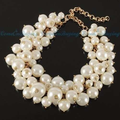 22fd93de94af maxi collar de perlas beige Más