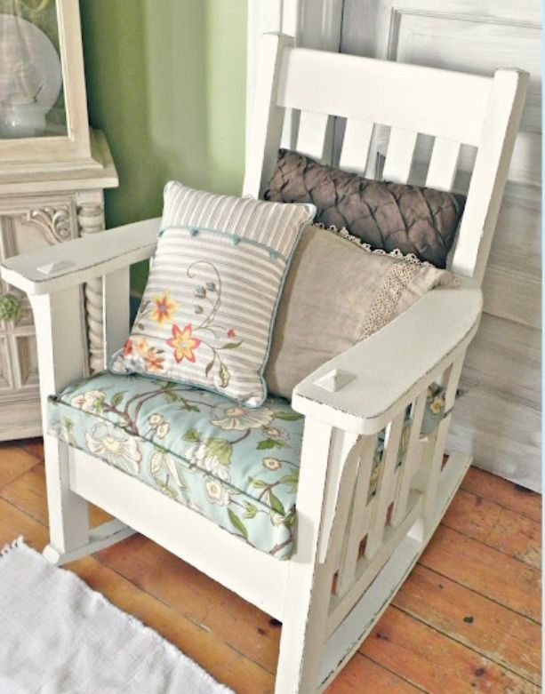 Super Cottage Rocker Mission Style Painted White In 2019 Mission Onthecornerstone Fun Painted Chair Ideas Images Onthecornerstoneorg