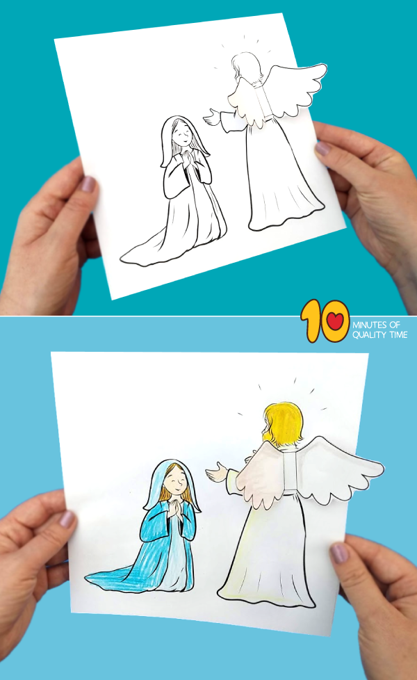 An Angel Visits Mary - Sunday School | Sunday school ...