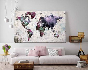 Personalized world map kids room world map nursery room world map personalized world map kids room world map nursery room world map art world map canvas push pin map world map wall art world map print maps gumiabroncs Choice Image