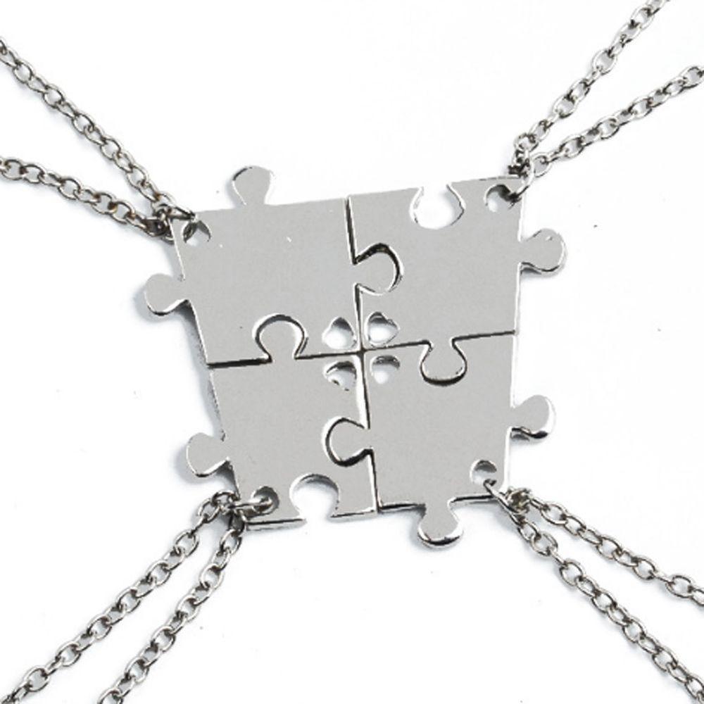 74e5581b1f 4pcs Friendship Best Friends Puzzle Piece Necklace Set Connecting Sisters  BFF #Unbranded #Pendant