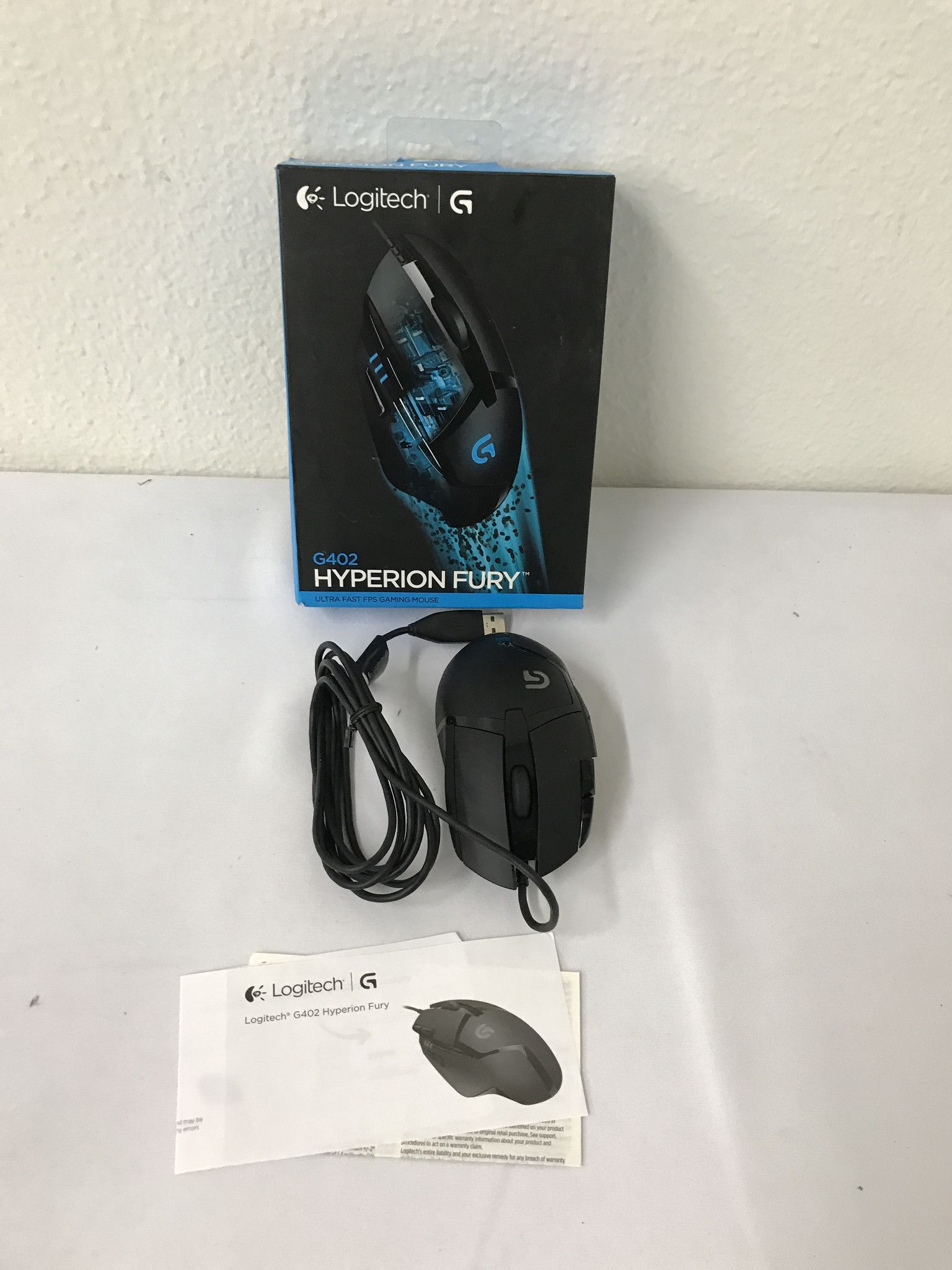 Logitech G402 Optical Gaming Mouse Hyperion Fury Wired M105