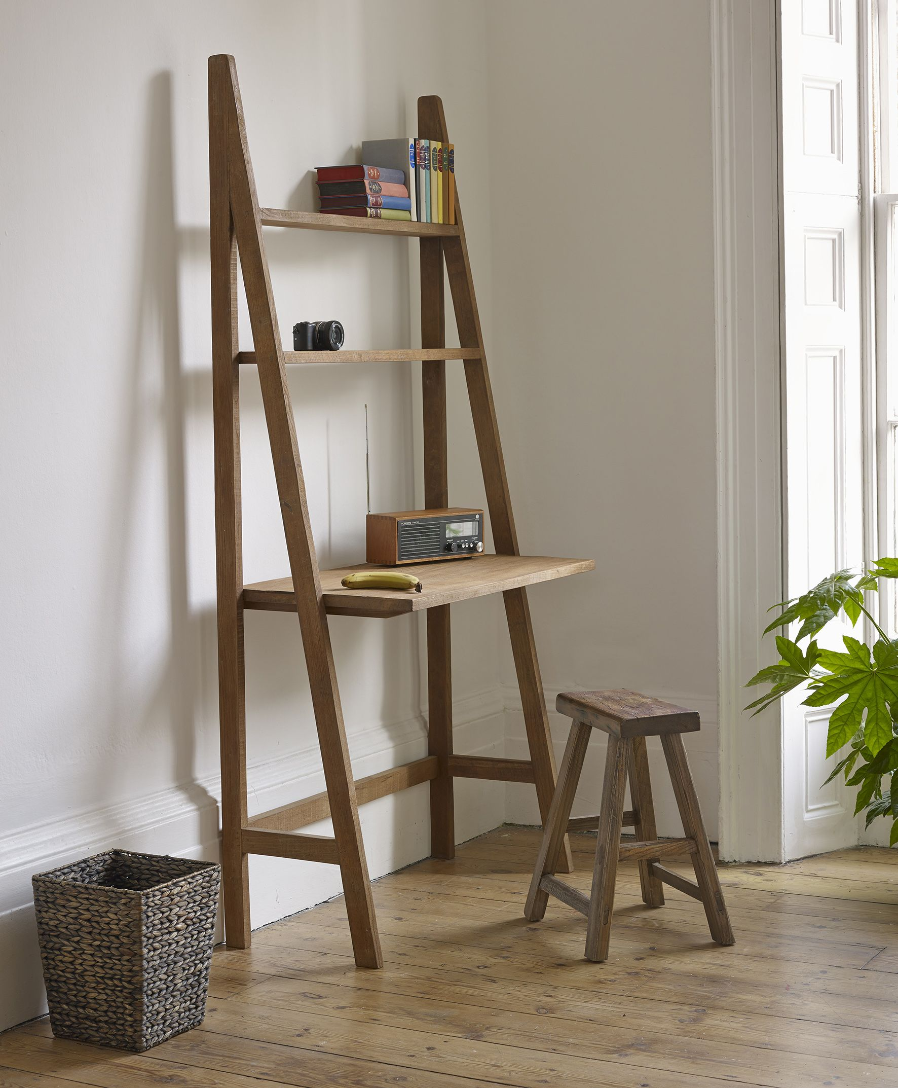 Homeoffice Space Design Ideas: Our Sumatra Desk Ladders Are Handmade In Indonesia From