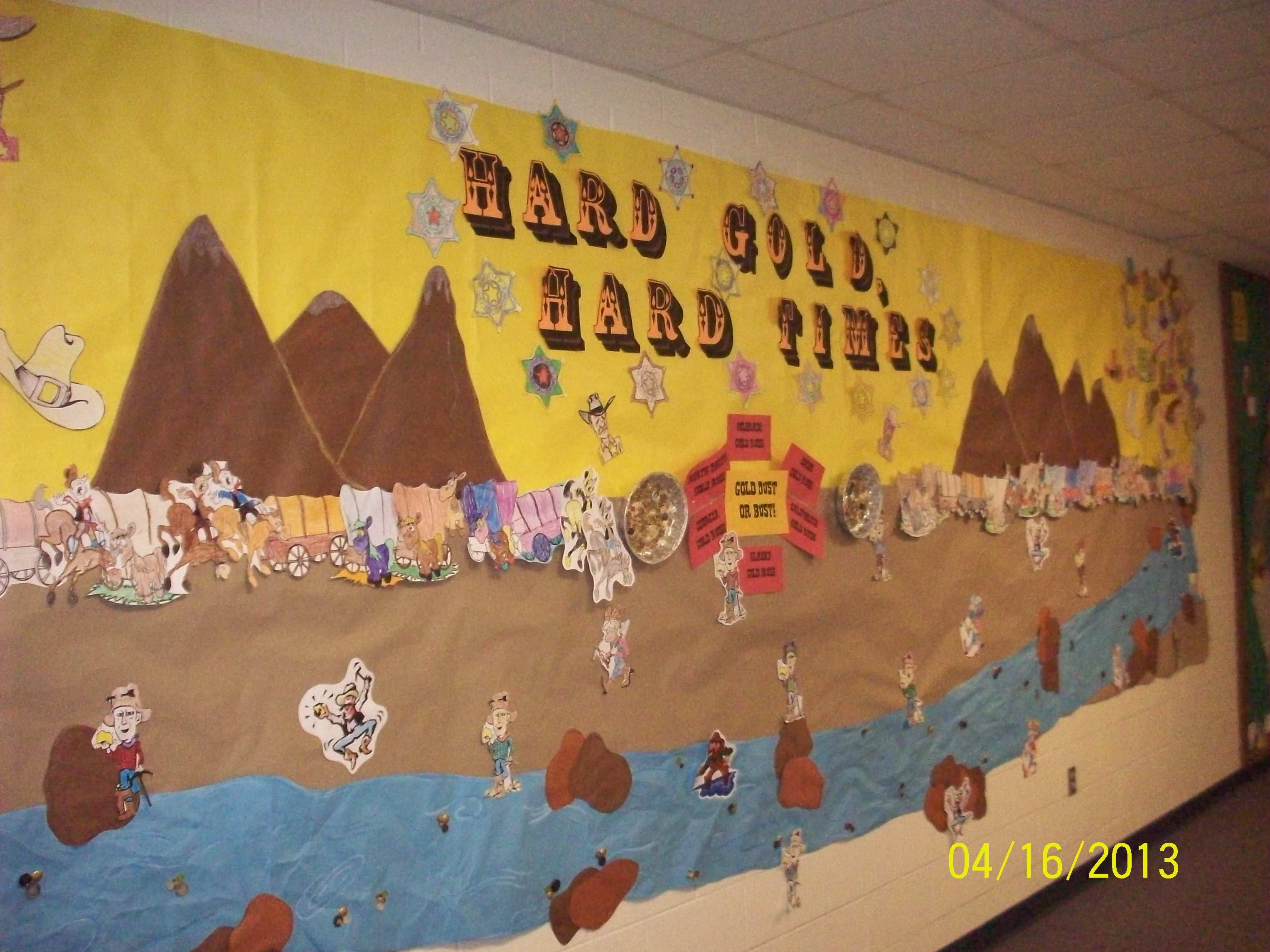 Gold Rush Bulletin Board For Klondike Elementary School