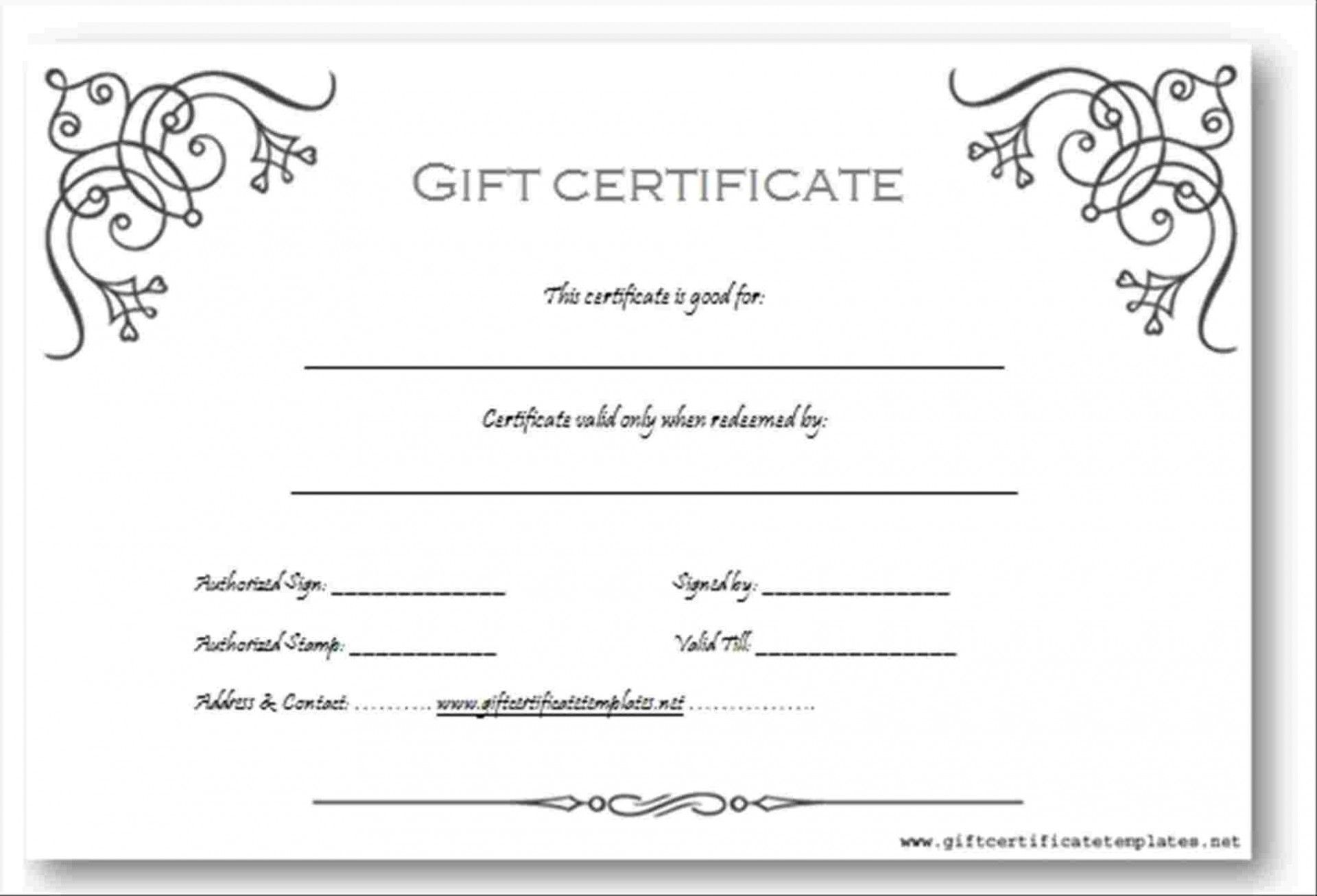 The Marvellous 012 Elegant Photography Gift Certificate Template F