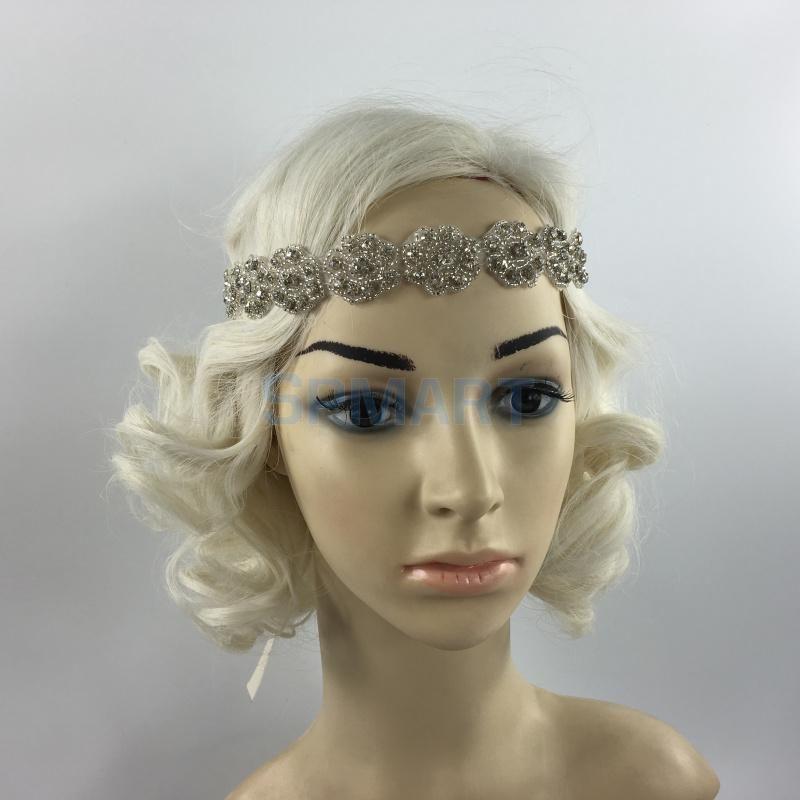 Vintage 1920s Diamante Flower Headpiece Great Gatsby Flapper Bridal Headband | eBay