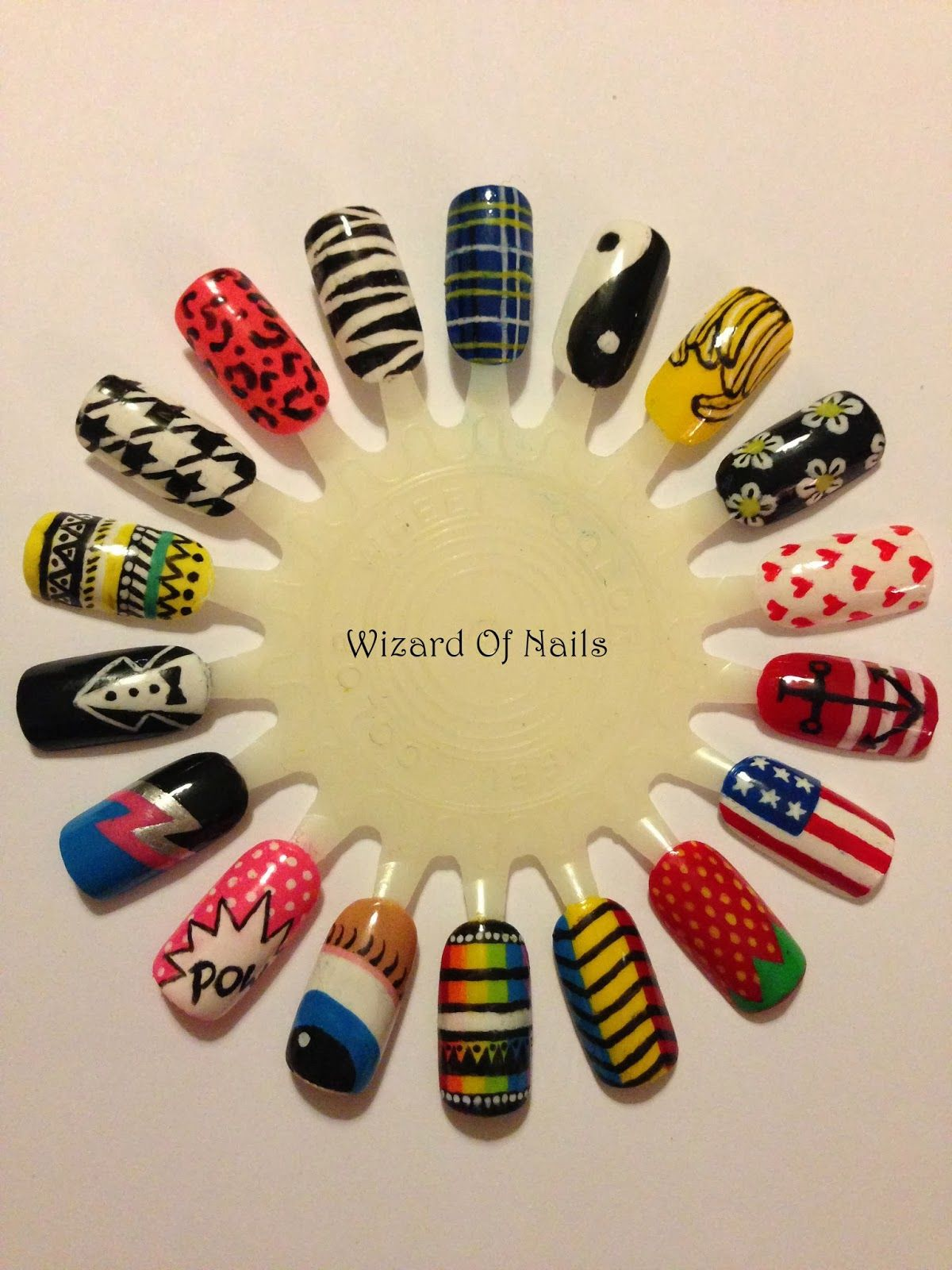 Wah Nails nail art wheel | Nail It | Pinterest | Nail art wheel ...