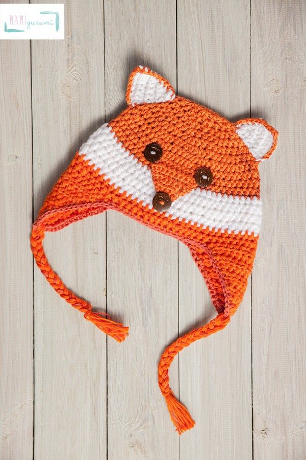 Mütze Fuchs-Design häkeln für Babys + Kinder | Stricken und häkeln ...