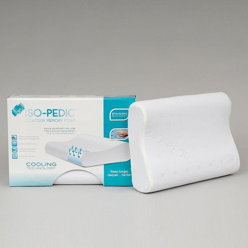 Iso Pedic Contour Memory Foam Pillow Standard Memory Foam