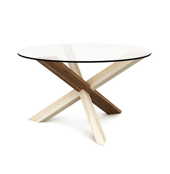 1x2+1 Round Coffee Table - Puzzle - Glass Coffee Table - Wooden ...