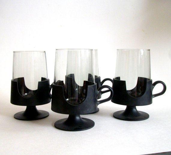Vintage Mod Glas Snap Coffee Mug /Saarinen by VintageHomeShop
