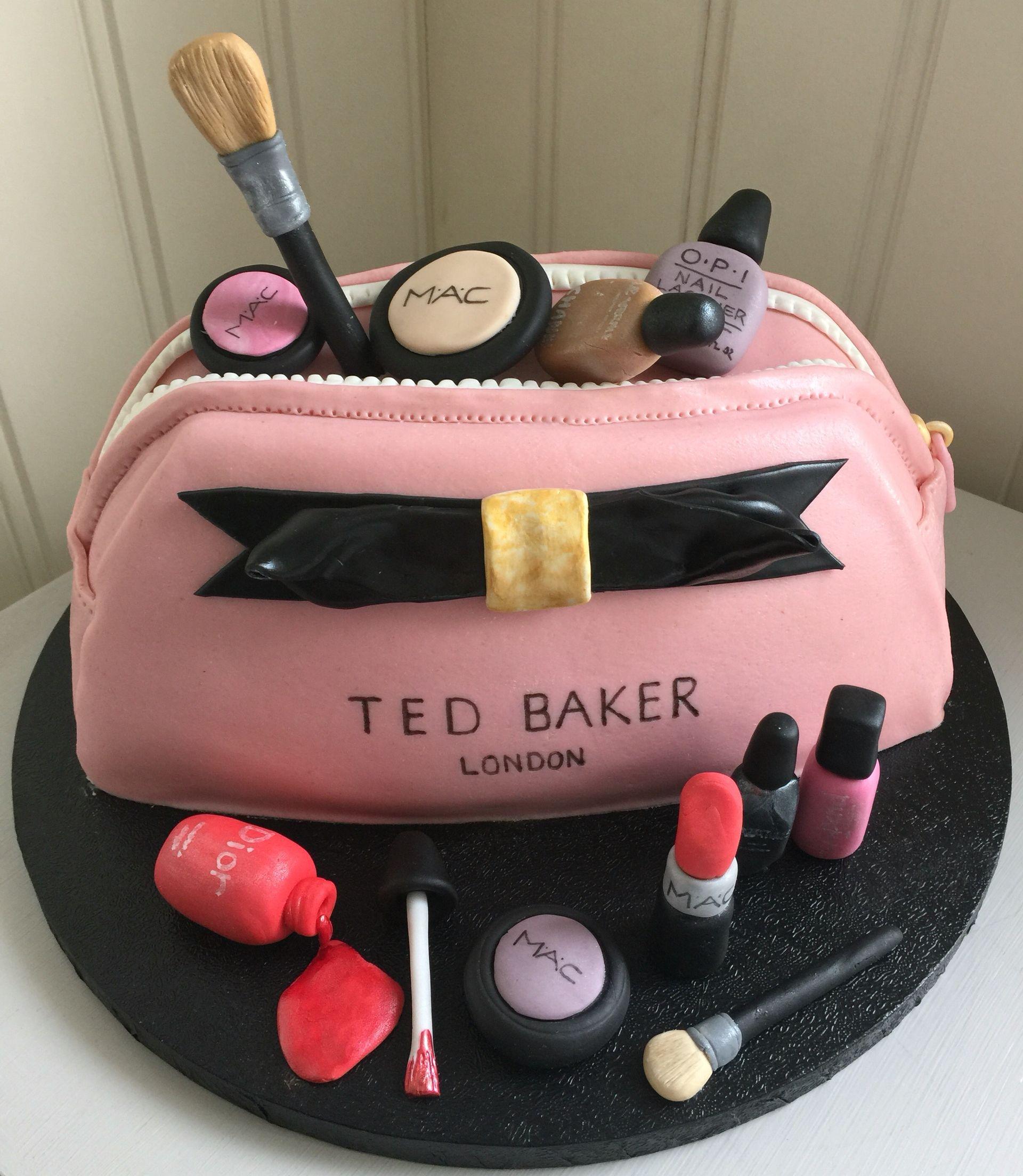Make up bag Ted Baker cake My homemade cakes Pinterest