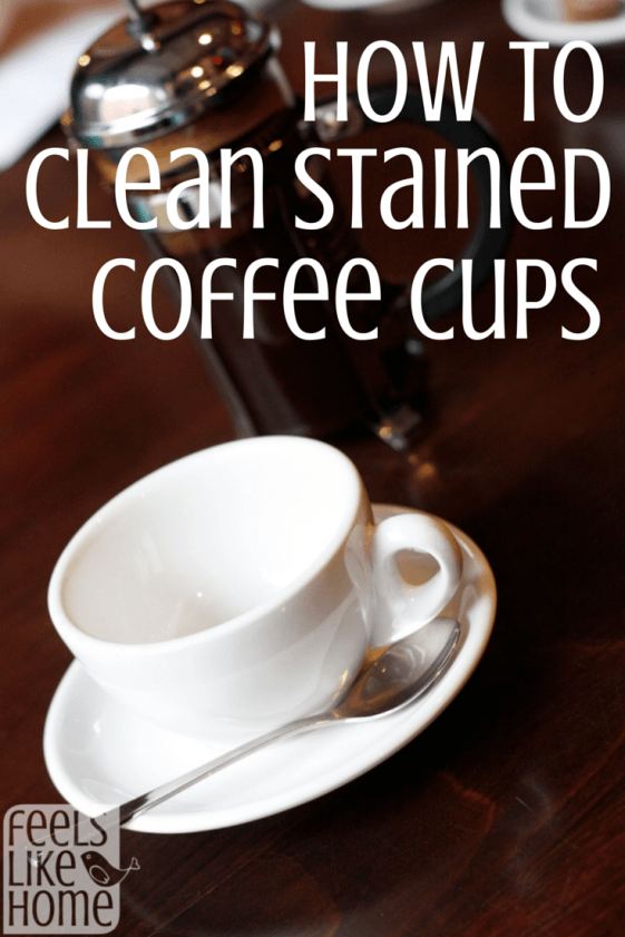 How to clean stained coffee cups Clean coffee stain, Tea