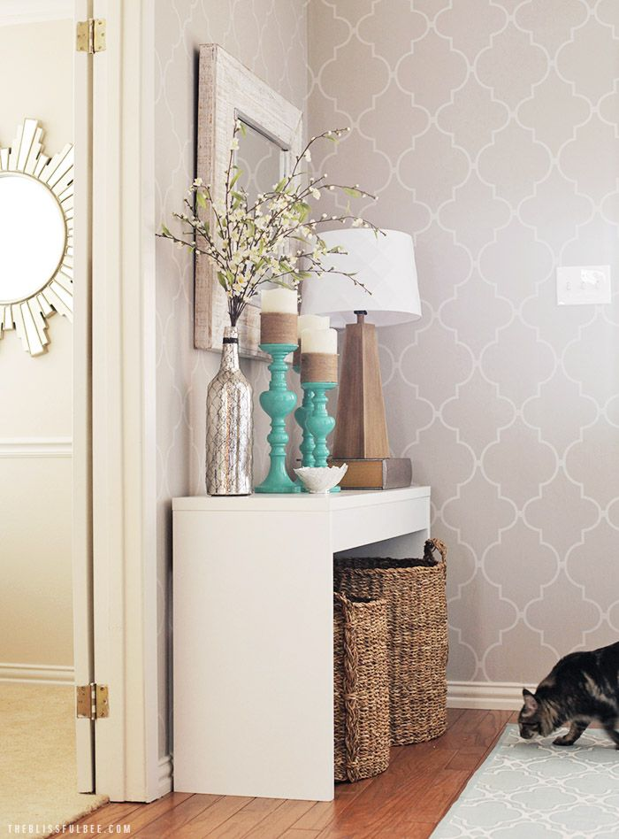 entryway makeover the blissful bee interiordesign makeover decor