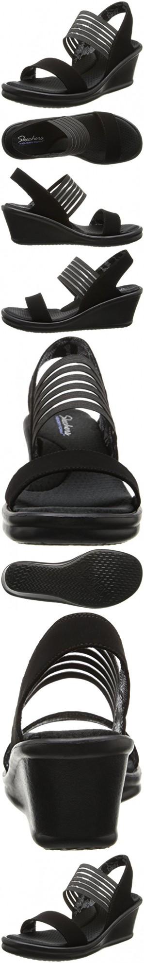f562b7cc9eda42 Skechers Cali Women s Rumblers Sci-Fi Wedge Sandal