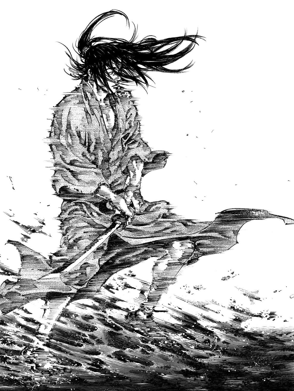 Vagabond Takehiko Inoue Vagabond Sumi Samurai Sword 720p
