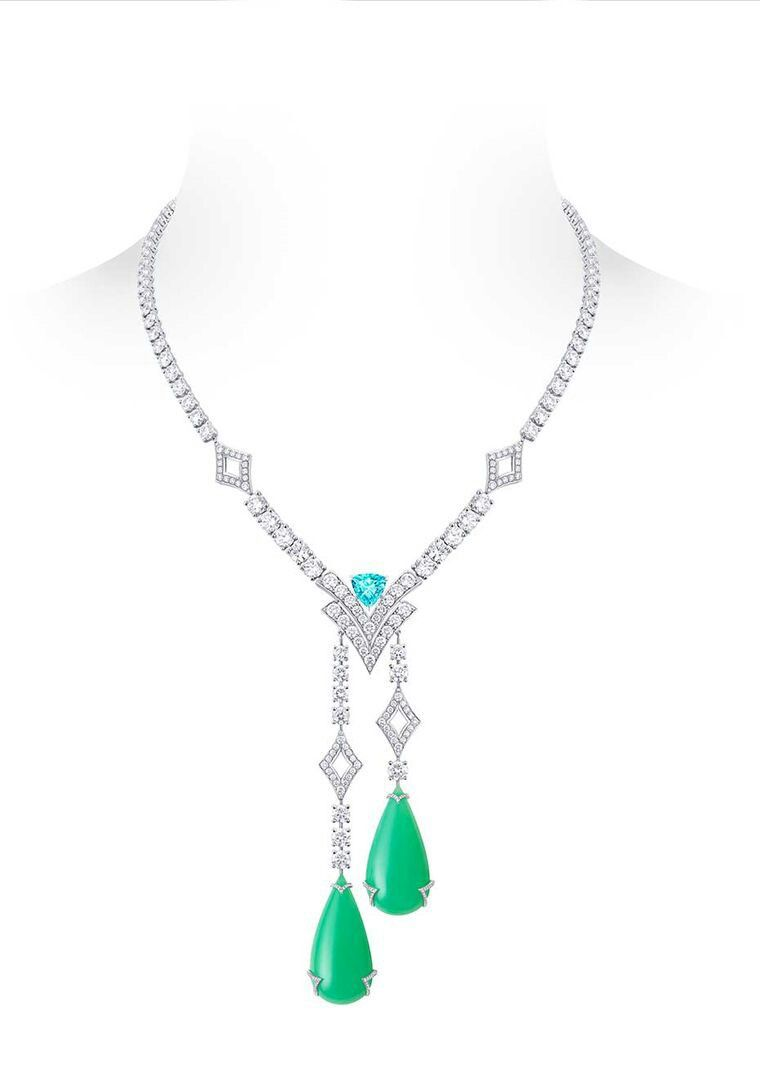 Louis Vuitton Acte V Metamophosis high jewellery necklace featuring two…
