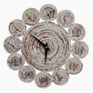 Cara Membuat Jam Dingding Dari Koran Bekas Kreatif Seni Kertas