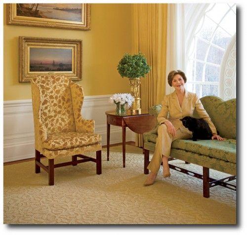 White House Laura Bush English Interiors, Regency Decorating, Regency  Furniture, Yellow Historical Interiors