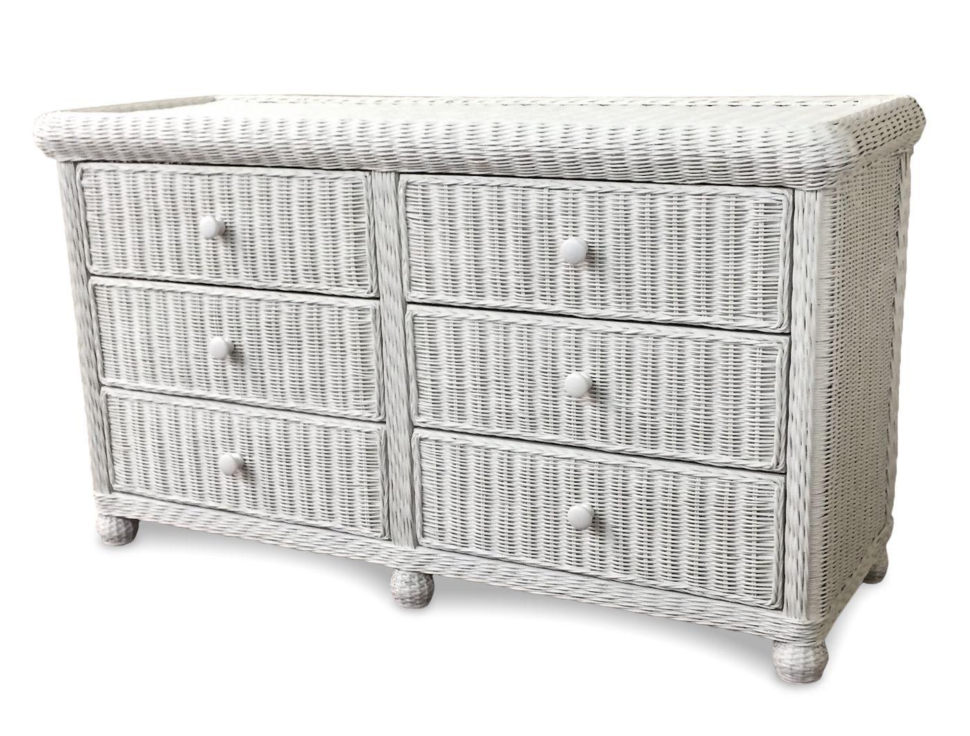 Wicker 6 Drawer Dresser Elana Wicker Paradise Wicker Bedroom Furniture White Wicker Bedroom Furniture White Wicker