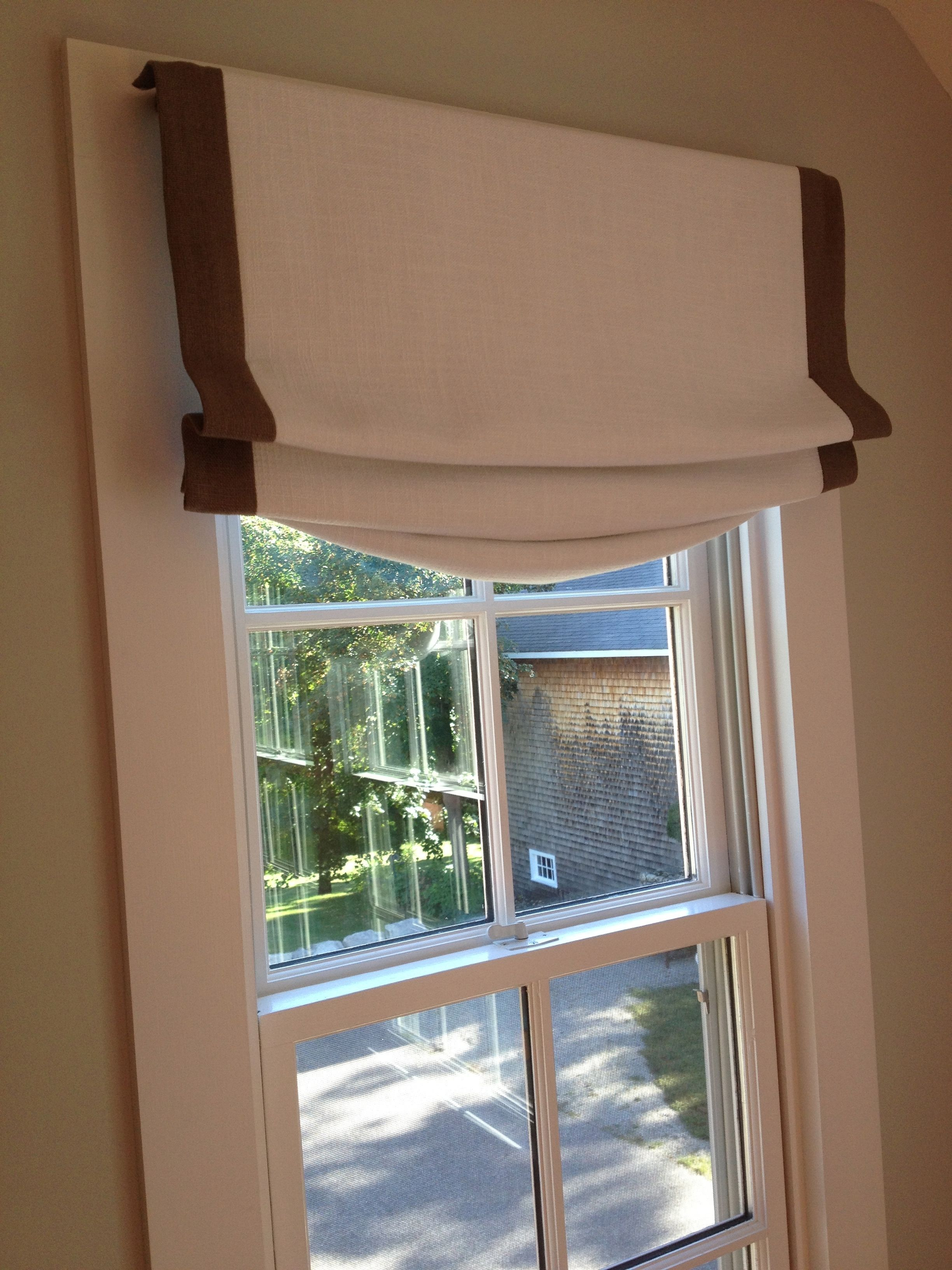 Mock Roman Shade Valance By Shell Lee Home Designs