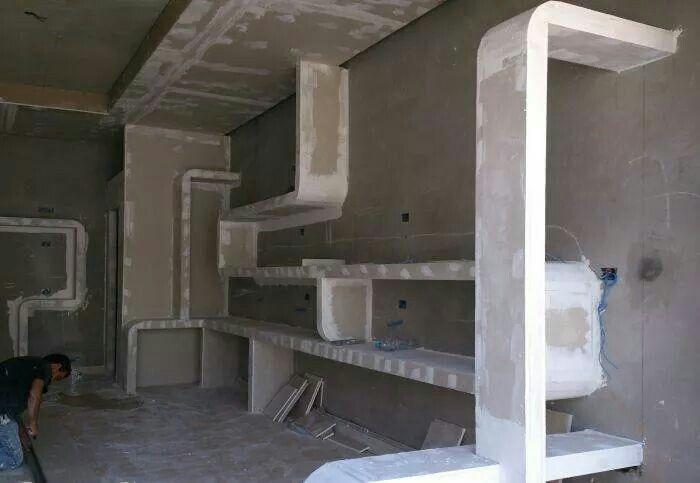 Wohnung Trockenbau Tv Wand Ideen