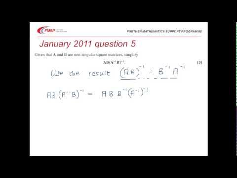 Further Maths FP1 Exam Revision