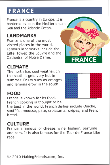 to know about france and its France has a reputation for being a country awash with art responsible for giving birth to the impressionist art movement in the 20th century, france is known for its famous artists claude monet, pierre-auguste renoir and paul cézanne are all hailed as important artistic figures.