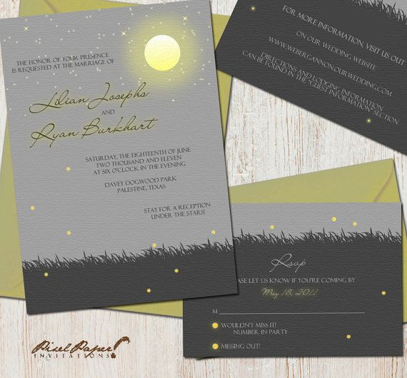 Moonlit Evening Wedding Suite: DIY, Printable, Or Printing