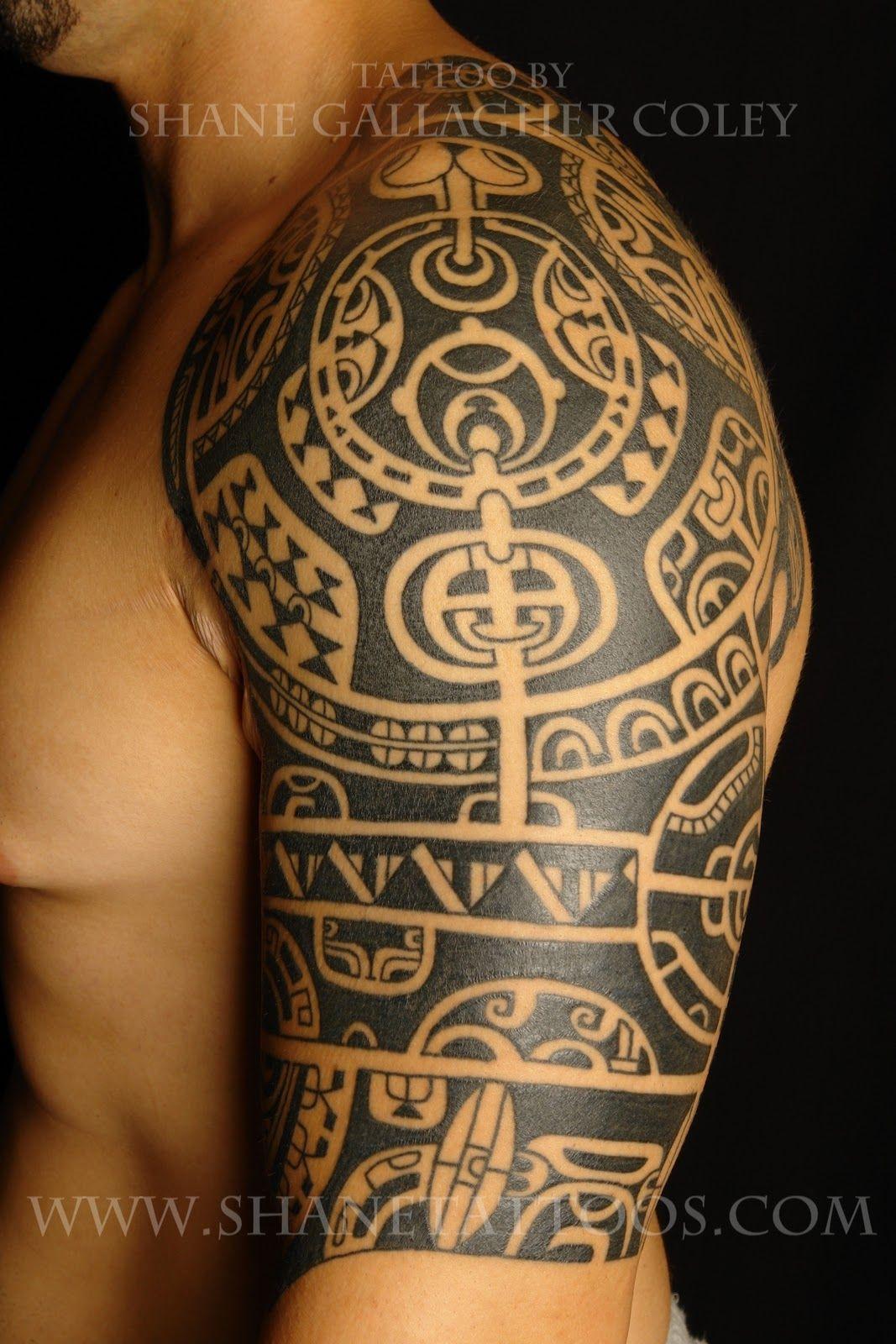 Sleeve Polynesian Tattoo Rock Tattoo Tattoos
