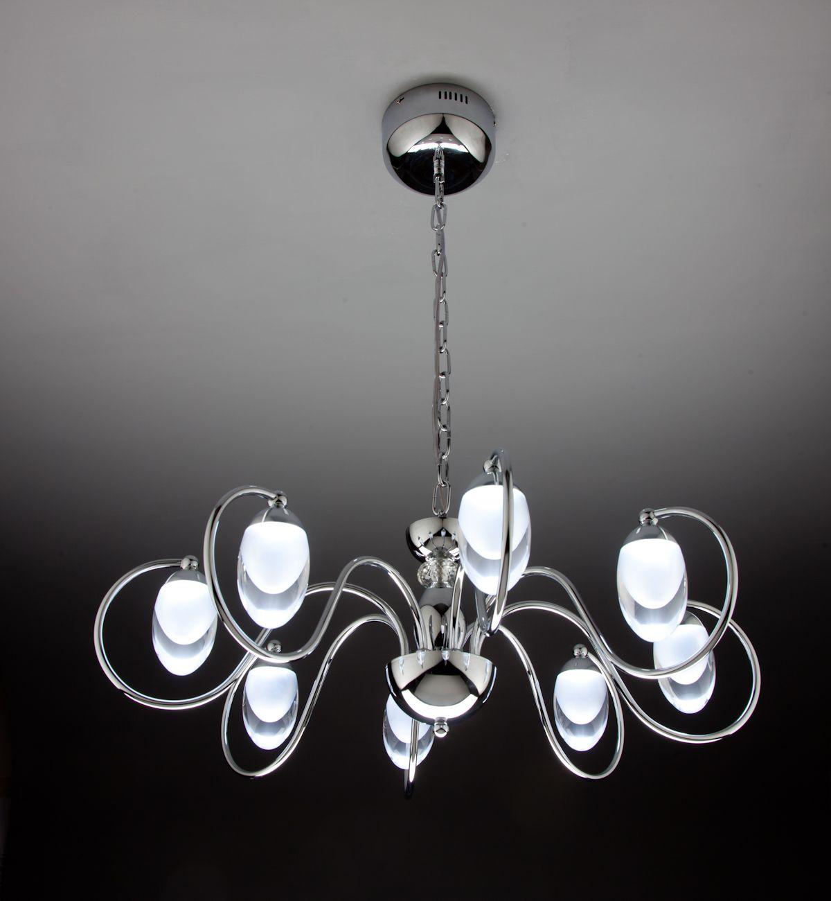 Lampadari Design Moderni.Lampadario A Sospensione Led Candeliere 8 Di Design Moderno