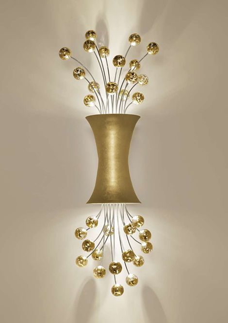 Sconce Lighting In 24ct Yellow Gold