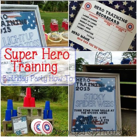 Captain America Birthday Party Games