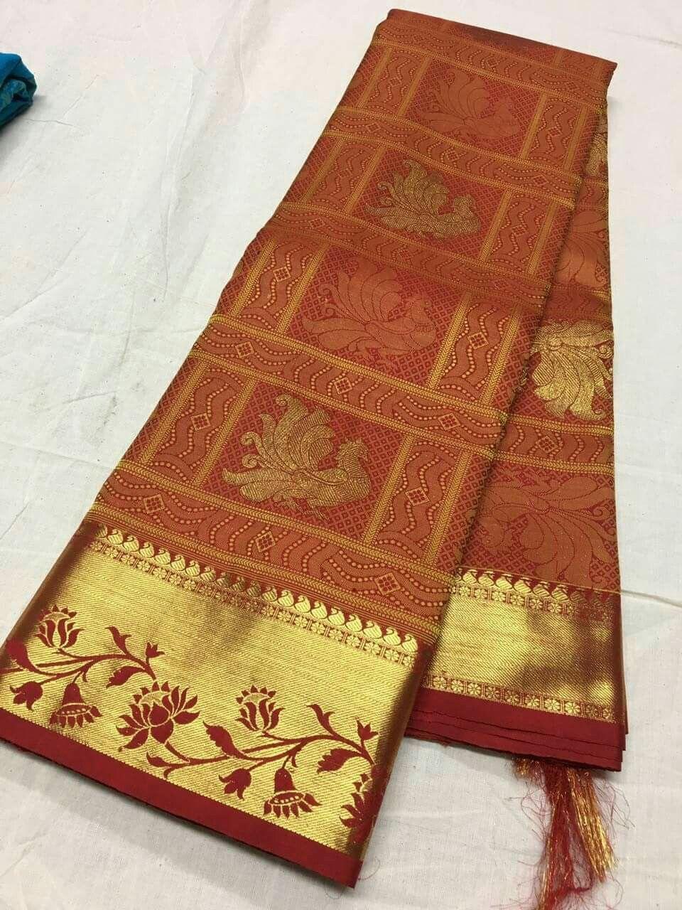 Pure kanchipattu sarees Order whatus app   sarees in