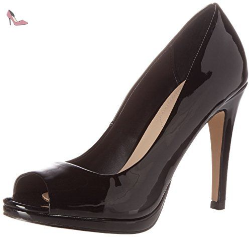 WRIGHTA, Sandales Plateau Femme - Noir (Black Leather/97), 40 EUAldo